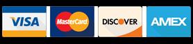 Credit Card: MC, Visa, Amex